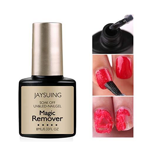 - BBtime Nail Cleaner Gel Polish Burst Magic,Don't Hurt Your Nails, DIY Polish Professional Remover Soak Off UV LED for Gift Box(8ML)