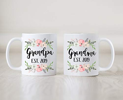 - Pregnancy Announcement Mug, Grandparents Mug, Birth Announcement, Pregnancy Reveal Idea, Pregnancy Reveal Mug, New Grandma
