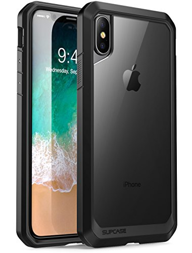 Price comparison product image SUPCASE iPhone X, iPhone XS Case, Unicorn Beetle Series Premium Hybrid Protective Frost Clear Case for Apple iPhone X 2017,iPhone XS 2018 (Clear/Black)