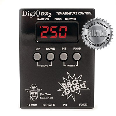DigiQ BBQ Temperature Controller, Digital Meat Thermometer, for Weber Smokey Mountain Cooker Adaptor, Pit Viper Fan
