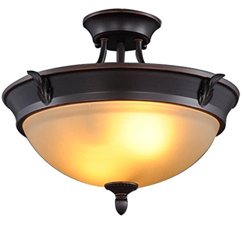 Hampton Bay 2-Light Bronze Semi-Flush Mount Light