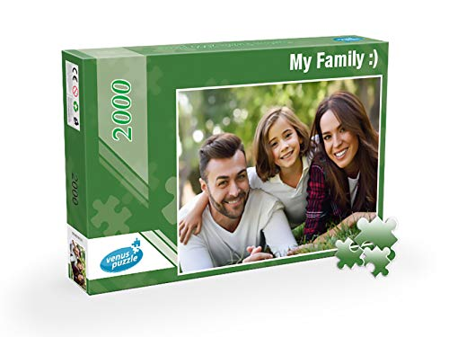 Custom Photo Puzzle 2000 Pieces, Custom Photo Puzzle from Your own Image, Personalized Photo Puzzle 2000 Pieces (Box Classic) ()