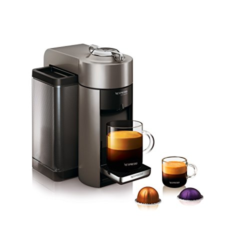 nespresso vertuo evoluo coffee and espresso machine with aeroccino by de 39 longhi graphite metal. Black Bedroom Furniture Sets. Home Design Ideas