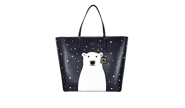 9ec1ee9d56d9 Kate Spade Len Polar Bear Cold Comforts Tote Bag Navy Leather Handbag   Amazon.ca  Shoes   Handbags