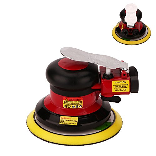 Dual Action Palm Sander (Professional Air Random Orbital Palm Sander, Dual Action Pneumatic Sander, Low Vibration, Heavy Duty)