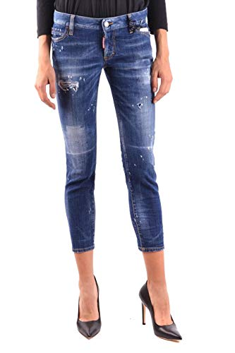 Cotone Donna S72lb0117s30342470 Dsquared2 Jeans Blu w5Fxt