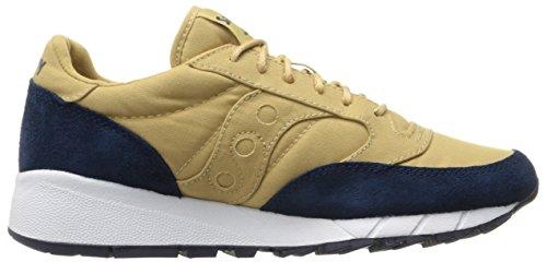 Originali Saucony Mens Jazz 91 Moda Sneakers Tan / Blu