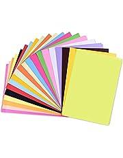 A4 Origami Paper, 100 Pcs DIY Craft Colored Paper for Kids Paper Cutting, Crafts (20 Colors)