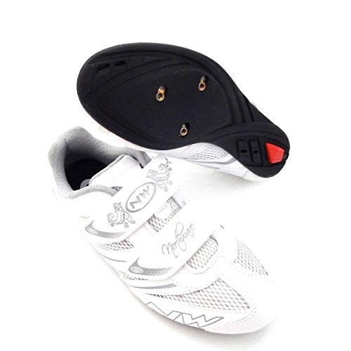 Northwave Eclipse Pro Women's Road Bike Cycling Shoes Size 37/5.5 White New
