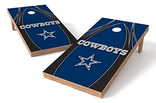 Wild Sports NFL Dallas Cowboys 2' x 4' V Logo Authentic Cornhole Game Set