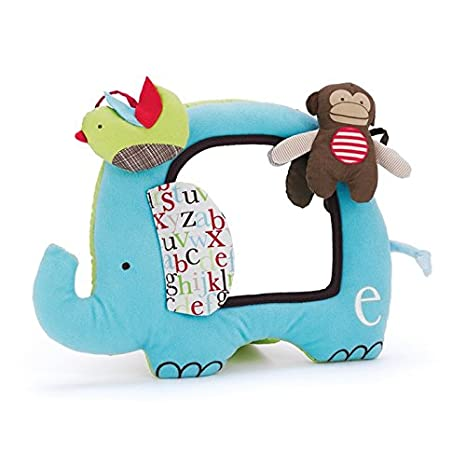 Skip hop ABC Zoo Activity Mirror, Multi Color Baby Mirror Toys at amazon