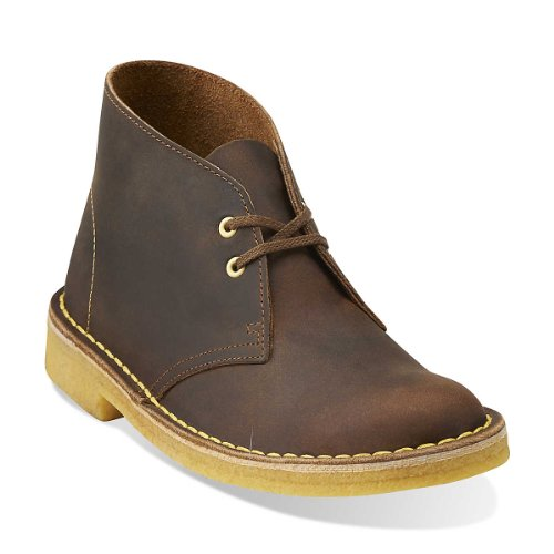 Clarks Desert bota del tobillo Beeswax Leather Yellow Crepe