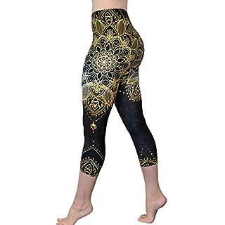 Comfy Yoga Pants - Workout Capris - High Waist Workout Leggings for Women - Lightweight Printed Yoga Legging (Capri Royal Dancer)