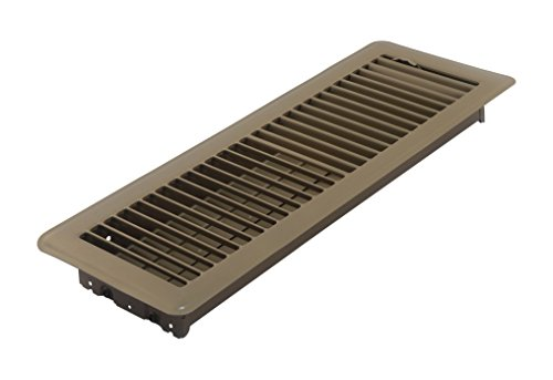 Accord ABFRBR414 Floor Register with Louvered Design, 4-Inch x 14-Inch(Duct Opening Measurements), Brown (Ceiling Register 14x4)