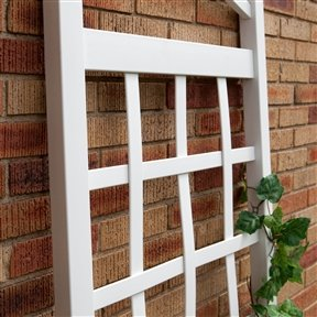 Arch Top Wall Trellis - Svitlife 6 Ft White Vinyl Garden Trellis with Arch Top with Ground Mount Anchors And Trellises Arbors Sunset Burton Kenneth S Plants Ideas Gardening