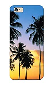 Fashionable Style Case Cover Skin Series For Iphone 6 Plus- Palm Tree Silhouettes In The Sunset