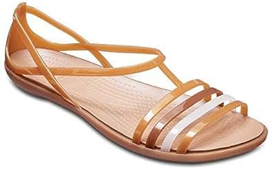 Crocs Women's Isabella Sandal Flat, Dark Gold, 4 M US