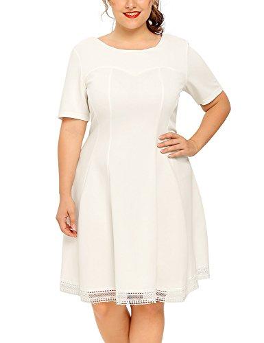 ivory a line dress - 8