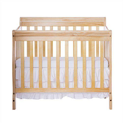 Dream On Me 4 in 1 Aden Convertible Mini Crib, Natural