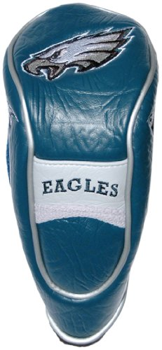 Team Golf NFL Philadelphia Eagles Hybrid Golf Club Headcover, Hook-and-Loop Closure, Velour lined for Extra Club Protection ()