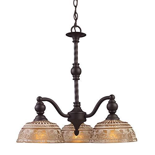 3-Light Chandelier, 21-Inch, Oiled Bronze ()