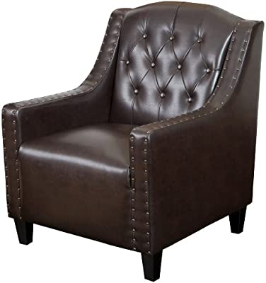 Superb Best Selling Gregory Tufted Leather Club Chair Ncnpc Chair Design For Home Ncnpcorg
