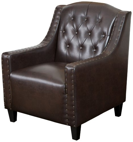 (Best Selling Gregory Tufted Leather Club Chair)