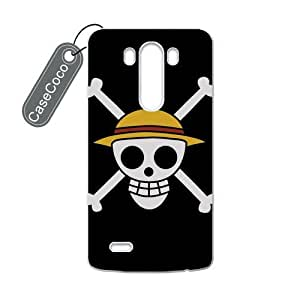 CASECOCO(TM) Favorite Japanese Anime One Piece LG G3 Case - Protective Hard White Case for LG G3