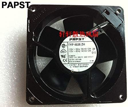For PAPST typ 4536 zh 12038 119x119x38 mm 115V 50//60HZ 13//12W all full metal high tempreture cooling fan