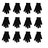 Winter Gloves Black Magic Gloves Wholesale 12 Pairs- One Size Fits Most (black)