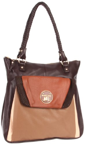 Elliott Lucca Cordoba Large Envelope Tote,Chocolate Block,One Size, Bags Central