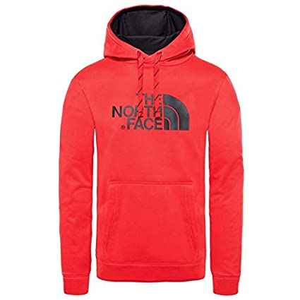 The North Face Hoodie Sudadera con Capucha Surgent Halfdome, Hombre, TNF Red, S