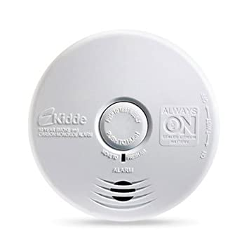 Kidde P3010K-CO Worry-Free Kitchen Photoelectric Smoke and Carbon Monoxide Alarm with 10 Year Sealed Battery Pack of 3