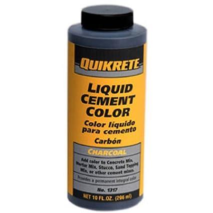 Quikrete 1317 00 Liquid Cement Color 10oz Charcoal Concrete Dye