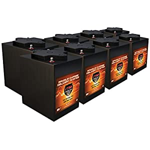 Qty 8 VMAX 6V 225Ah AGM Battery High Capacity 6 Volt golf cart solar commercial golfcart maintenance free Deep Cycle SLA AGM 6volt batteries
