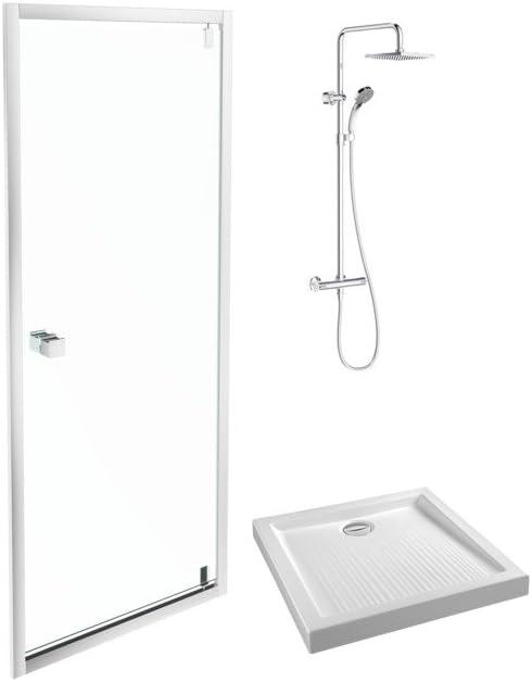 Jacob Delafon e63100 – 00 mampara de ducha, sin acabado, Set de 3 ...