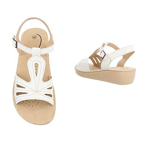 Sandals Design Sandals Strappy Flat Ital at Women's White q1OHHz