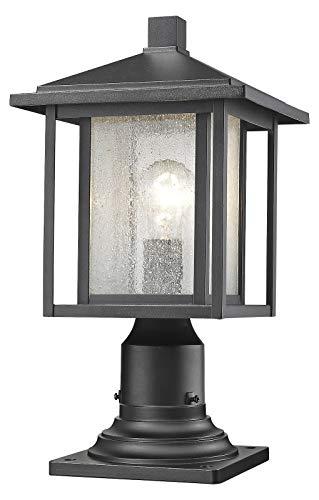 (554PHM-533PM-BK Black Aspen Single Light 17