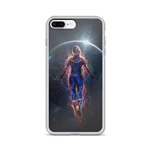iPhone 7 Plus/8 Plus Pure Anti-Shock Clear Case Captain Carol Denvers in Space Stan Lee Movie Shield Avengerss Comic Superhero