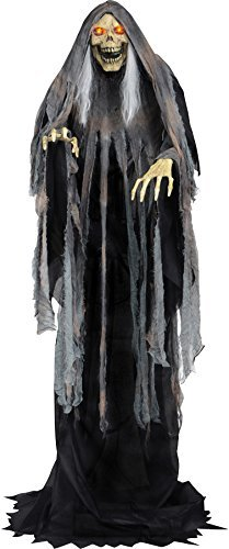 [Bog Reaper Rising Animated Halloween Prop Haunted House Yard Scary Decor] (Halloween Animatronics)