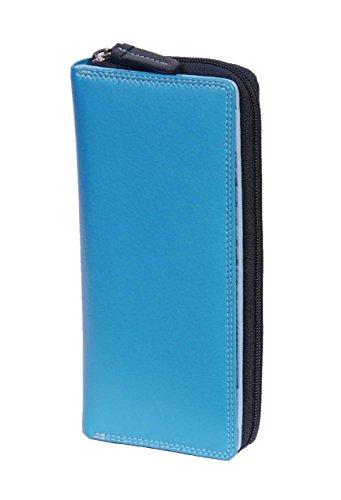 Confezione in Carte a regalo mano pelle blu morbida blu multicolor Borsa zxpPqw6Ez