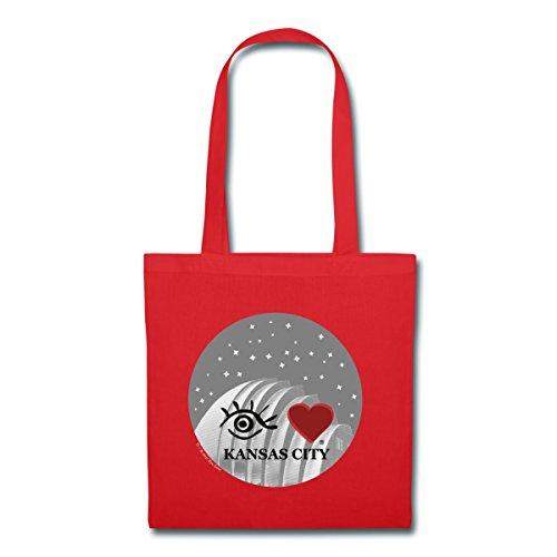 Spreadshirt Eye Love Kansas City Tote Bag, - Shopping Missouri Kansas City