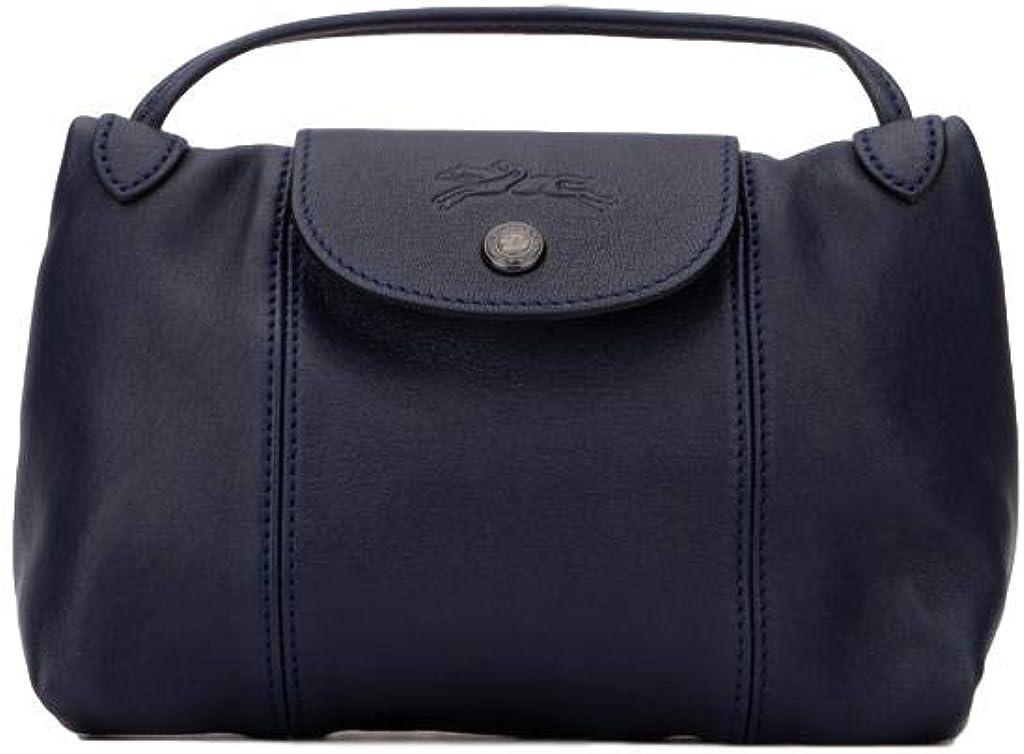Longchamp Le Pliage Cuir Small Crossbody Leather Shoulder Bag, Navy