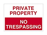 Imprint 360 AS-10006P Plastic (PVC) Workplace PRIVATE PROPERTY No Trespassing Sign - 7'' x 10'', Red / White, PROUDLY Made in the USA, Printed with UV Ink for Durability and Fade Resistance
