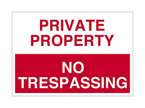 Imprint 360 AS-10006P Plastic (PVC) Workplace PRIVATE PROPERTY No Trespassing Sign - 7'' x 10'', Red / White, PROUDLY Made in the USA, Printed with UV Ink for Durability and Fade Resistance by Imprint 360