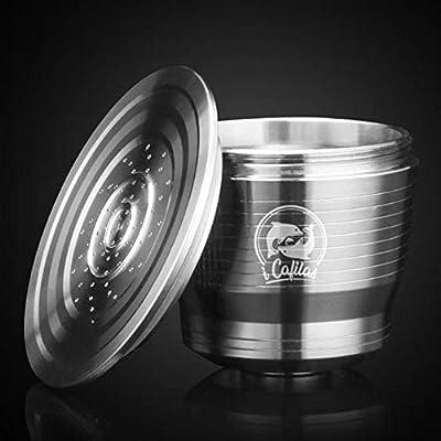 Cápsula de café Gyswshh de acero inoxidable reutilizable para cafetera expreso Nespresso U: Amazon.es: Hogar