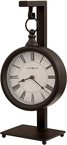 Howard Miller Loman Mantel Clock 635-200 - Vintage & Round with Quartz Movement