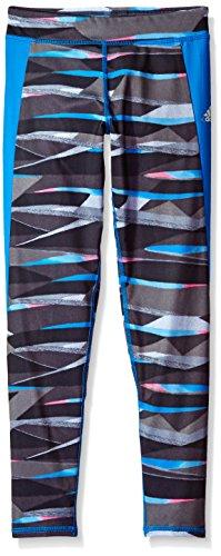 Adidas Big Girls' Performance Tight Legging, Dark Grey Print, L