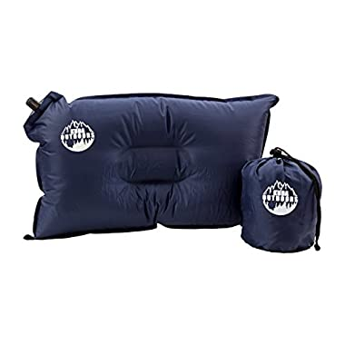 Kuda Outdoors Self Inflating Travel Pillow for Outdoors, Blue