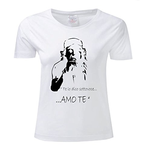 T Art Maglietta Bianco Donna AmoTe Rossi shirt Vasco 66rqdSw